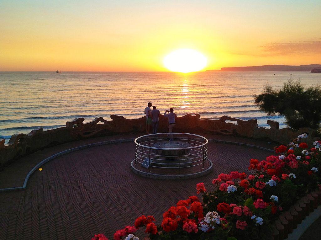 fotografian el amanecer desde piquio