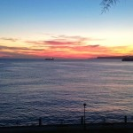 Luce el faro de la isla de Mouro