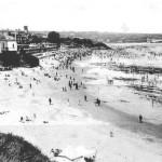 La playa de la Concha y del Sardinero en 1922