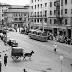 Calvo Sotelo cuando circulaban trolebuses y carros con burros