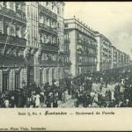 El Paseo Pereda a tope de gente en 1903