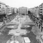 La plaza de Pombo cuando tenía columpios y cancha de balonmano