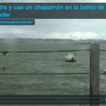 Así entra y cae un chaparrón en la bahía de Santander