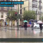 Día de paraguas y carreras