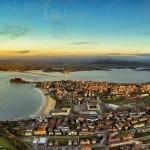 La bahía de Santander y el abra del Sardinero a vista de pájaro