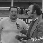 Maguregui con Fernando Ibarra en los Campos de Sport del Sardinero
