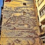 El Santander del siglo XVI recién pintado en una pared