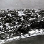 Vista aérea de Reina Victoria cuando quedaban 'praos' sin construir