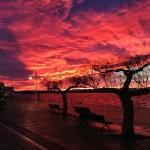Un amanecer con el cielo disfrazado de infierno