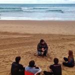 Teoría en la arena, práctica en el agua