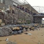 El balneario de la Magdalena se protege de futuros temporales