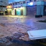 Destrozos del temporal. La mar ha llegado hasta el Lupa del Sardinero