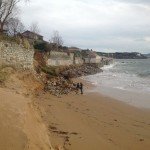 El temporal también ha dejado huella en la playa de la Magdalena