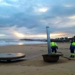Destrozos del temporal. En las playas del Sardinero no ha quedado nada en pie