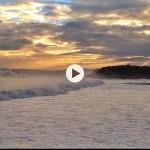 Las olas poderosas del Sardinero