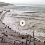Nuevo temporal en el Sardinero: El paseo del Chiqui y el de la Segunda bajo las aguas