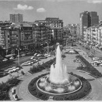 La fuente de la plaza del Ayuntamiento en todo su esplendor