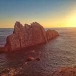 La Arnía y Covachos con luz de amanecer