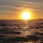 Sol, horizonte, mar, despertar
