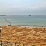 El relleno de arena de la Segunda del Sardinero, finalizado