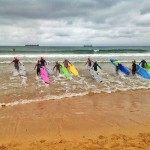 Campeonato regional de salvamento de playa en las aguas del Sardinero