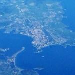 Santander hoy desde 11.000 metros de altura