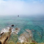 Velero y niebla en Loredo