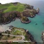 La espectacular playa de Berellín desde el aire