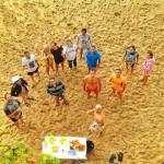 Los hombres de Paco despiden temporada de baño en aguas del Sardinero