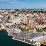 San Martín a vista de dron semanas antes del Mundial de Vela
