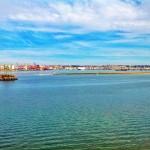 Bajamar, media marea, pleamar. Marea viva en la bahía de Santander
