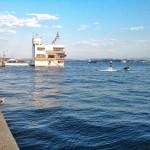 Pleamar en Santander. La bahía está que se sale