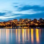 Santander a media luz. Atardecer desde el Puntal