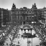 La plaza de Pombo cuando se la llamaba plaza de la Libertad