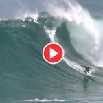 El primer temporal de otoño en la gran ola de La Vaca. Surf para valientes