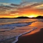 A pie de playa. A pie de ola