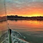 Un amanecer a bordo