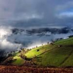Montes de La Vega del Pas con resoluco y nubes bajas