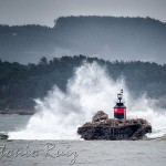 La Horadada, salpicada por la mar
