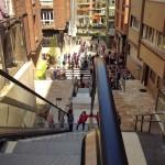 Las nuevas escaleras mecánicas de la calle Vargas ya están en marcha