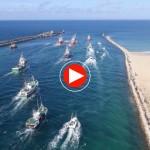 La Folía 2015 a vista de dron. San Vicente de la Barquera