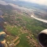Santander, la bahía y Costa Quebrada desde el aire.