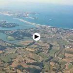 Despegue desde el aeropuerto Severiano Ballesteros. Santander. Cantabria