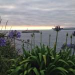Mar de nubes sobre la isla de Mouro. Dos instantes