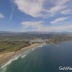 La playa de Merón a vista de dron