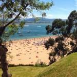 Fantástico día de playa junto a la bahía