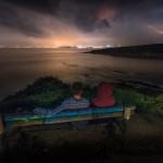 Mirando cómo viene la tormenta desde el Mirador de los Tranquilos