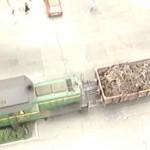 El último tren que circuló por Calderón de la Barca en acción. Año 1989