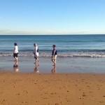 Un paseo por la orilla del Sardinero. ¡A 22 grados un 6 de noviembre!
