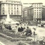 La plaza del Ayuntamiento de Santander en 1964